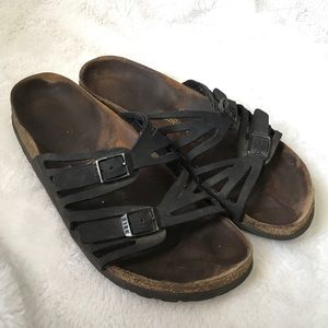 Birkenstock Women's Black Granda Sandals